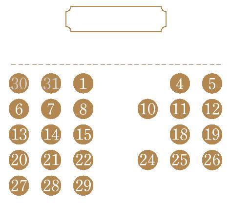 営業日カレンダー202106