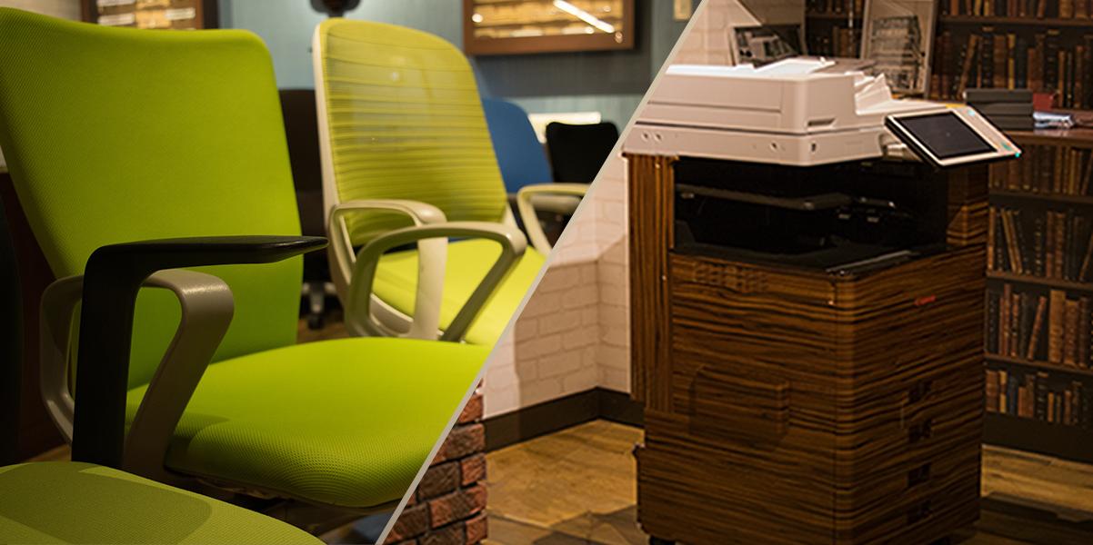 事務機やオフィス家具のご紹介もお任せください。
